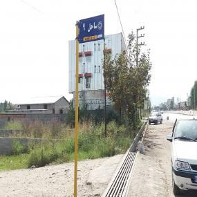 نصب تابلو های سر کوچه خیابان دریای شهر دابودشت