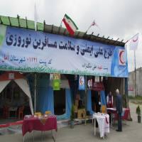 بازدید قاسمی شهردار دابودشت از ایستگاه هلال احمر جنب شهرداری