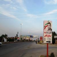 نصب تمثال سردار شهید اسماعیل حاتمی در خ امام رضا(ع) شهردابودشت