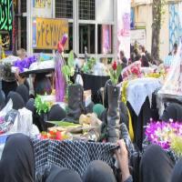 تشییع پیکر شهدای غواص و خط شکن مازندران در شهر هزارسنگر آمل