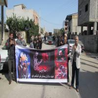 دسته روی روستای پایین کلیکسر دابو به حسینیه باب الحوایج شهر دابودشت در صبح روز تاسوعا