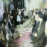 نشست صمیمی و خانوادگی روحانیون و مسولین شهرستان آمل در بیت امام جمعه شهر