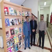 بازدیددهقان رئیس شورای اسلامی و ابراهیمی معاونت شهرداری دابودشت به مناسبت هفته کتاب و کتاب خوانی از کتابخانه شهدای شهر دابودشت