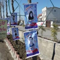 نصب تمثال شهدای حماسه 6 بهمن شهرستان آمل در سطح شهر دابودشت
