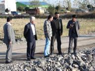 بازدید مهدوی شهردار از پروژه های شهر دابودشت