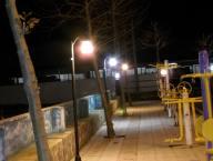 نصب چراغ فانوسی در پارک شهر دابودشت