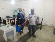 اجرای مانور سراسری مبارزه با کرونا ضد عفونی مدارس شهر دابودشت توسط نیروی خدماتی  شهرداری دابودشت