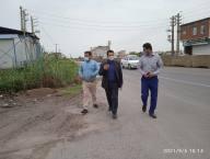 بازدید شکری سرپرست شهرداری دابودشت از سطح شهر به همراه مسئولین واحدهای فنی و خدمات شهری و فضای سبز