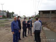 بازدید شکری سرپرست شهرداری و اعضای شورای اسلامی شهر به همراه مسئول فنی شهرداری دابودشت ازپروژه ورودی روستای هندوکلا