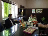 دیدار شکری شهر دار و اعضای شورای شهر دابودشت به مناسبت هفته نیروی انتظامی  با فرماندهی انتظامی دابودشت