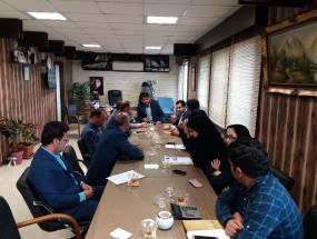 اولین جلسه شورای اداری  مهدوی شهردار دابودشت با مسئولین واحدهای شهرداری  در سال 1397