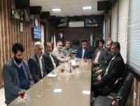 دیدار فرماندهان و بسیجیان با مهدوی شهردار دابودشت در هفته بسیج