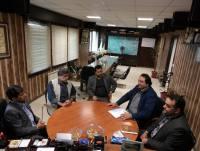 دیدار هنرمندان صدا و سیمای مرکز مازندران با مهدوی شهردار دابودشت