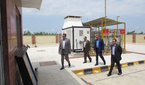 بازدید سرزده جناب آقای مهندس نبیان معاونت محترم امور عمرانی استانداری مازندران از جایگاه CNG  در حال ساخت شهرداری دابودشت