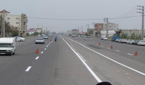 خط کشی خیابان دریای شهر دابودشت