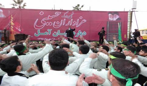تجمع بزرگ عزاداران حسینی در دیار علویان آمل 18 مهر 1395 به روایت تصویر 2