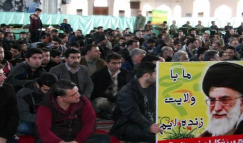 حضور قاسمی شهردار دابودشت در اجتماع بزرگ بسیجیان در مصلی امل