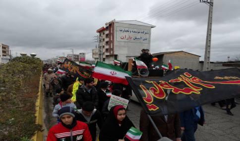 راهپیمایی حماسی و با شکوه 22 بهمن مردم دابودشت به روایت تصویر1