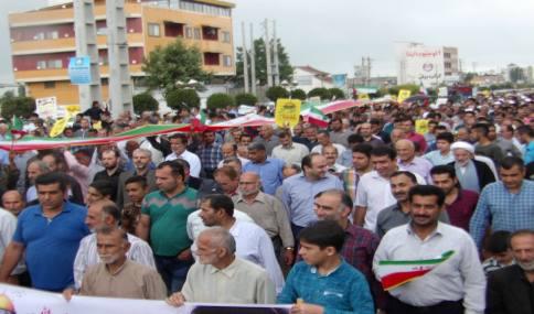 حماسه مردم دو بخش دابودشت و دشت سر در راهپیمایی روز جهانی قدس در شهر دابودشت (1)