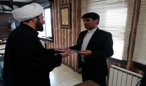 دیدار امام جمعه دابودشت و دشت سر و بخشدار دابودشت با شهردار جدید