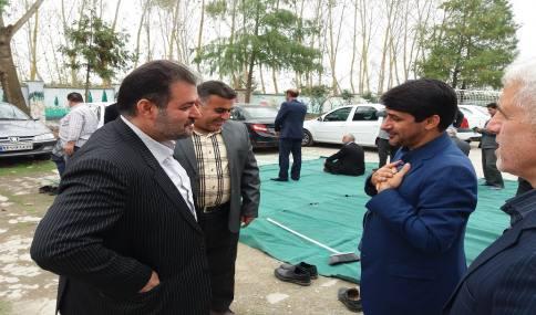 دیدار مهدوی شهردار دابودشت با یوسف پور فرماندار محمودآباد