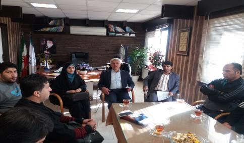دیدار جمعی از ورزشکاران شهر دابودشت با مهدوی شهردار دابودشت