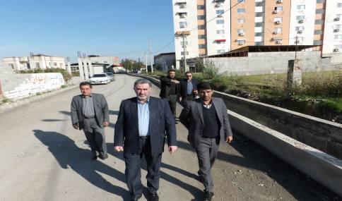 بازدید کارشناسان استانداری از پروژه های شهر دابودشت