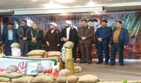 حضور مهدوی شهردار دابودشت در اولین یادواره شهدای بسیج کارمندی شهرستان آمل