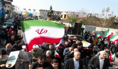 راهپیمایی باشکوه 22 بهمن در شهر دابودشت به روایت تصویر 2