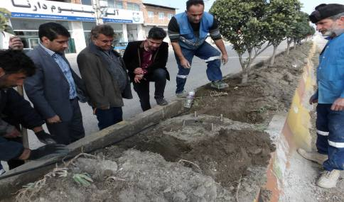 بازدید مهدوی شهردار دابودشت از پارک و پروژه روشنایی خیابان دریا