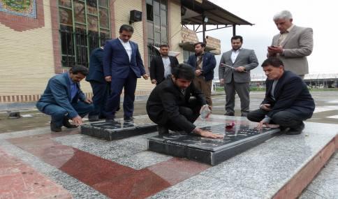 غبار روبی و عطر افشانی  گلزار شهدای شهر دابودشت به مناسبت 22 اسفند روز شهدا