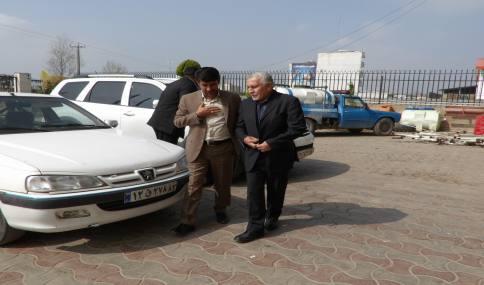 دیدار نوروزی حاج احمد ناطق نوری با مهدوی شهردار دابودشت