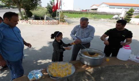 برپایی ایستگاه صلواتی توسط شهرداری دابودشت به مناسبت عید سعید غدیر خم