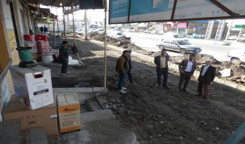 بازدید محمد رضا مهدوی شهردار دابودشت از پروژه های سطح شهر دابودشت