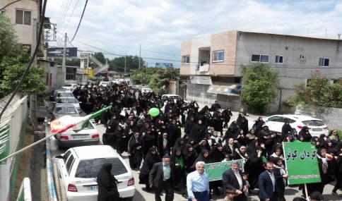 راهپیمایی حماسی و باشکوه روز قدس در شهر دابودشت