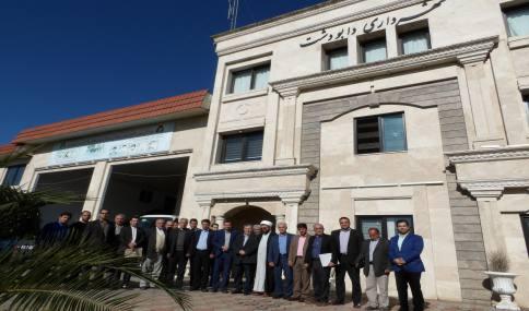 حضور دکتر یوسفیان نماینده مردم شریف شهرستان آمل در مجلس شورای اسلامی در شهرداری دابودشت
