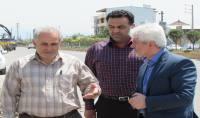بازدید مهندس ییلاقی مدیر ساخت و توسعه راههای استان مازندران از پروژه خاکبرداری ،زیرسازی و بیس شهرداری دابودشت در خیابان دریا