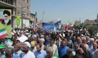 برگزاری مراسم راهپیمایی عظیم روز قدس در شهر دابودشت