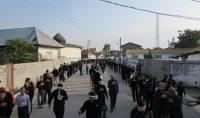 دسته روی هیئت حسینیه باب الحوایج به حسینیه  پنج تن ال عبا شهر دابودشت در بعد از ظهر تاسوعا
