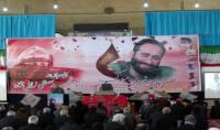 حضور قاسمی شهردار دابودشت در مراسم هفت شهید مدافع حرم زال نژاد در مصلی آمل