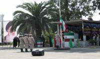 حضور کارکنان شهرداری دابودشت در صبحگاه مشترک سپاه ناحیه آمل به مناسبت هفته دفاع مقدس